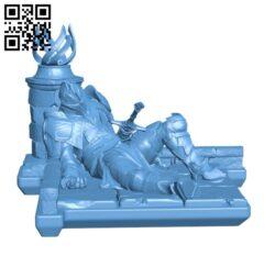 Lotus Fallen H000644 file stl free download 3D Model for CNC and 3d printer