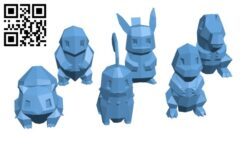 Low – Poly Pokemon Collection H000706 file stl free download 3D Model for CNC and 3d printer