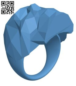 Low Poly Skull Ring H001238 file stl free download 3D Model for CNC and 3d printer