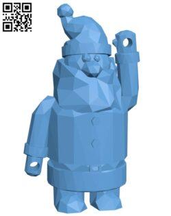 Low poly santa combiner H001163 file stl free download 3D Model for CNC and 3d printer