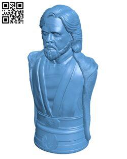 Luke Skywalker bust – The Last Jedi H000535 file stl free download 3D Model for CNC and 3d printer