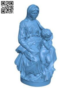 Madonna of Bruges H000767 file stl free download 3D Model for CNC and 3d printer
