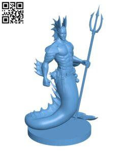 Merfolk Updated H000506 file stl free download 3D Model for CNC and 3d printer