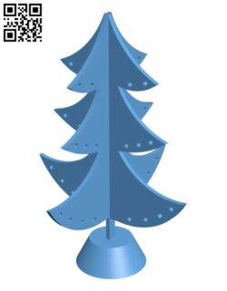 Miniature christmas tree H001052 file stl free download 3D Model for CNC and 3d printer