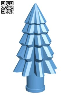 Modern Xmas Tree H001054 file stl free download 3D Model for CNC and 3d printer