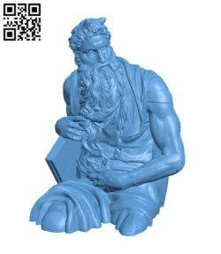 Moses (Upper Half) H000794 file stl free download 3D Model for CNC and 3d printer