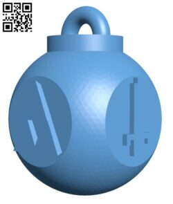 Nerdy legend of Zelda ornament for xmas H001128 file stl free download 3D Model for CNC and 3d printer