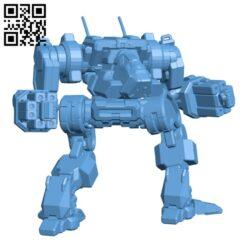 Nova Prime, aka (Black Hawk) for Battletech – Robot H000645 file stl free download 3D Model for CNC and 3d printer