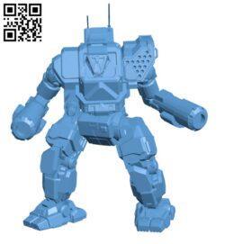 ON1-V4 Orion for Battletech – Robot H000569 file stl free download 3D Model for CNC and 3d printer