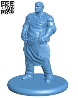 Orc Butcher H000539 file stl free download 3D Model for CNC and 3d printer