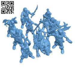 Orc Horde Set H000919 file stl free download 3D Model for CNC and 3d printer