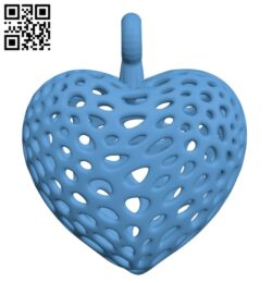 Organic Heart H000887 file stl free download 3D Model for CNC and 3d printer