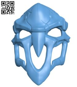 OverWatch's Reaper Mask H000888 file stl free download 3D Model for CNC and 3d printer