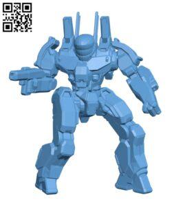 PXH-1D Phoenix Hawk for Battletech – Robot  H000621 file stl free download 3D Model for CNC and 3d printer