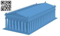 Parthenon – Greece H000511 file stl free download 3D Model for CNC and 3d printer