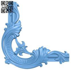 Pattern decor design A006621 download free stl files 3d model for CNC wood carving