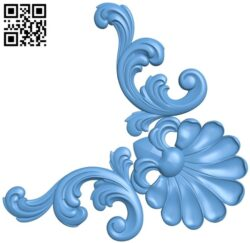 Pattern in the corner A006623 download free stl files 3d model for CNC wood carving