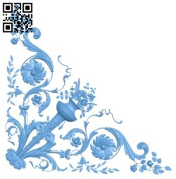 Pattern in the corner A006624 download free stl files 3d model for CNC wood carving