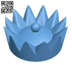 Pawn crown H000947 file stl free download 3D Model for CNC and 3d printer