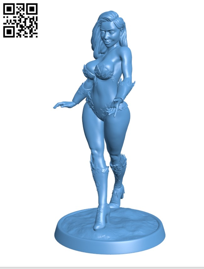 Poison Ivy - Women H000795 file stl free download 3D Model for CNC and 3d printer