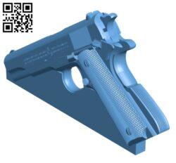 Prop gun- Colt 1911 H000890 file stl free download 3D Model for CNC and 3d printer