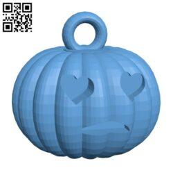 Pumkin keyring H000951 file stl free download 3D Model for CNC and 3d printer