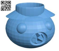 Pumpkin candle holder H001169 file stl free download 3D Model for CNC and 3d printer