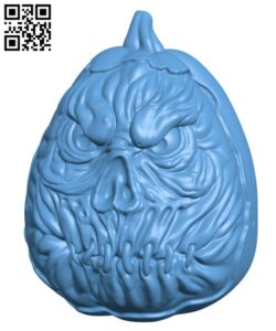 Pumpkin for Halloween H001057 file stl free download 3D Model for CNC and 3d printer