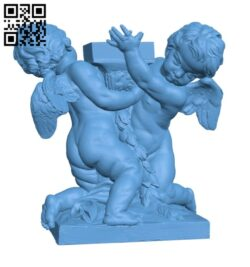 Putti Carrying a Lantern H000920 file stl free download 3D Model for CNC and 3d printer