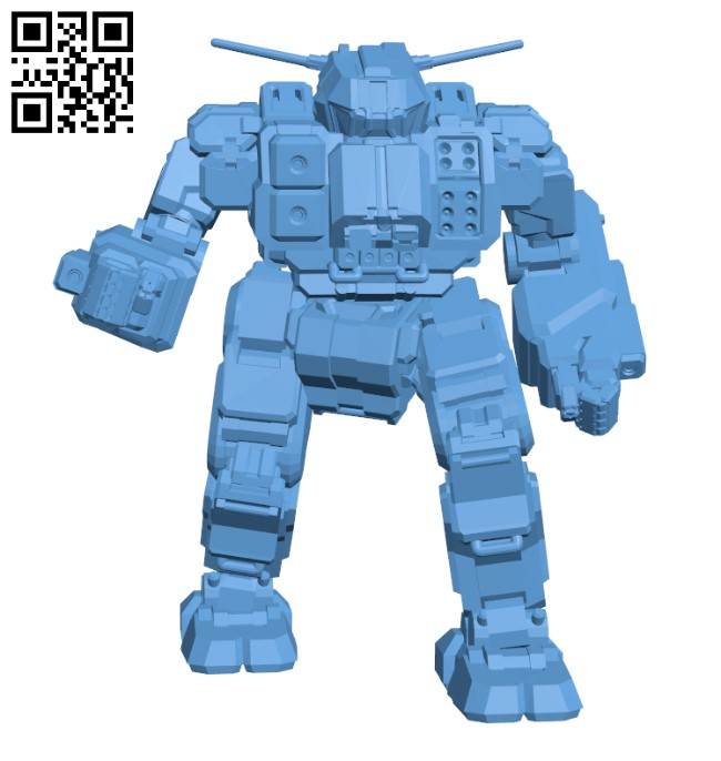 QKD-4D Quickdraw for Battletech - Robot H000646 file stl free download 3D Model for CNC and 3d printer