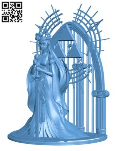 Queen Zelda H000571 file stl free download 3D Model for CNC and 3d printer
