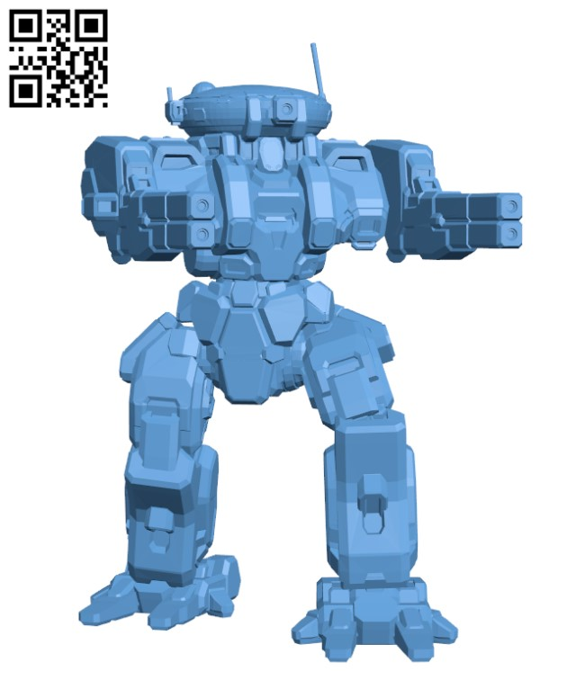 RFL-IIC Rifleman for Battletech - Robot H000647 file stl free download 3D Model for CNC and 3d printer