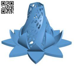 Radiant Blossom H000709 file stl free download 3D Model for CNC and 3d printer