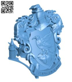 Ravenclaw Coat of Arms Wall (Desk Display) – Harry Potter H000861 file stl free download 3D Model for CNC and 3d printer