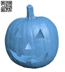 Realistic Jack O lantern – Halloween H000957 file stl free download 3D Model for CNC and 3d printer