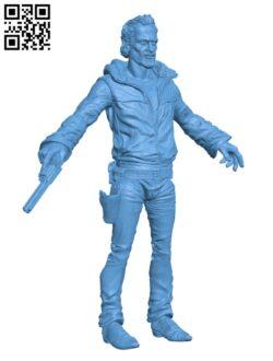 Rick Grimes H000863 file stl free download 3D Model for CNC and 3d printer
