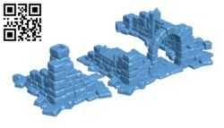 Ruined House H000712 file stl free download 3D Model for CNC and 3d printer