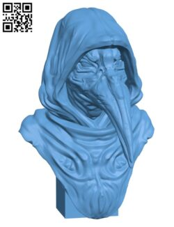 SCP-049 – The plague Doctor H000744 file stl free download 3D Model for CNC and 3d printer