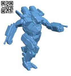 SDR-A Spider (Anansi) for Battletech – Robot H000649 file stl free download 3D Model for CNC and 3d printer