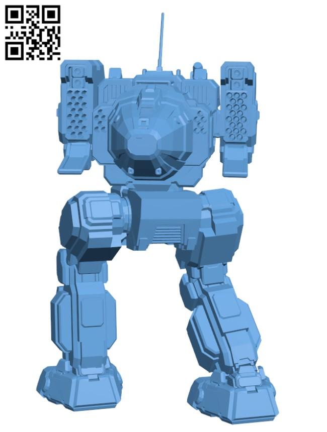 STK-3Fb Stalker for Battletech - Robot H000652 file stl free download 3D Model for CNC and 3d printer