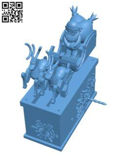 Santa Claus Reindeer Automata H001060 file stl free download 3D Model for CNC and 3d printer