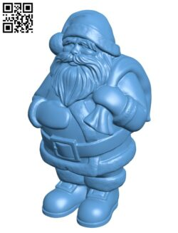 Santa Claus supportless H001061 file stl free download 3D Model for CNC and 3d printer