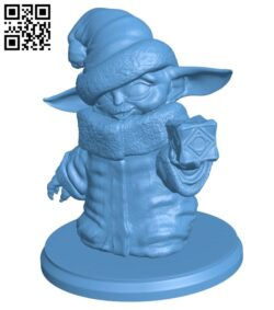 Santa Hat Baby Yoda with Holocron H001181 file stl free download 3D Model for CNC and 3d printer