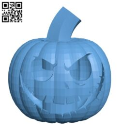 Scary Halloween Pumpkin H001003 file stl free download 3D Model for CNC and 3d printer