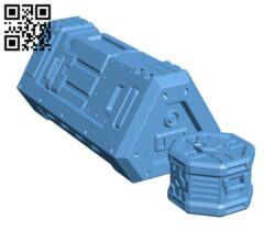 Sci-Fi Crates and Container Griffin H000678 file stl free download 3D Model for CNC and 3d printer