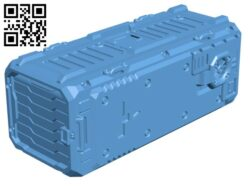 Sci-fi Shipping Container  H000626 file stl free download 3D Model for CNC and 3d printer