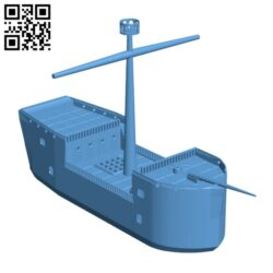"""""""Sea Ghost"""" Modular tabletop ship from the Dnd book """"Ghosts of Saltmarsh"""" H000869 file stl free download 3D Model for CNC and 3d printer"""