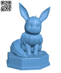 Shiny Eevee (Pokemon) H000796 file stl free download 3D Model for CNC and 3d printer