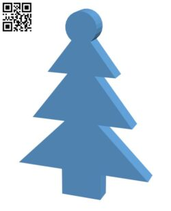 Simple Christmas Tree H001005 file stl free download 3D Model for CNC and 3d printer