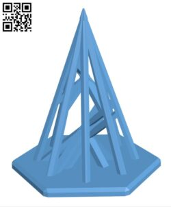 Simple christmas tree H001064 file stl free download 3D Model for CNC and 3d printer